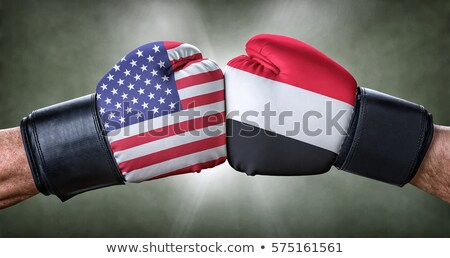 A boxing match between the USA and Yemen Stock photo © Zerbor