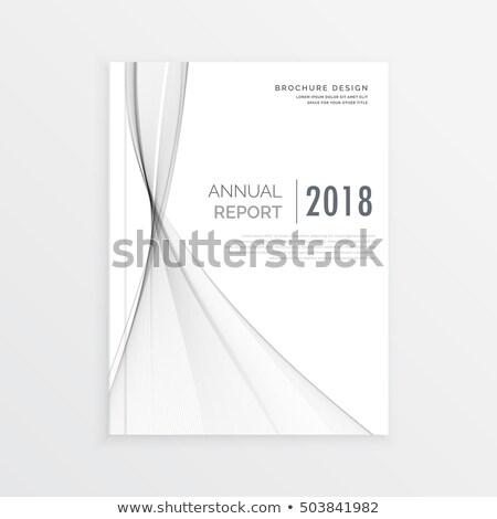 чистой брошюра дизайна серый волна ежегодный Сток-фото © SArts