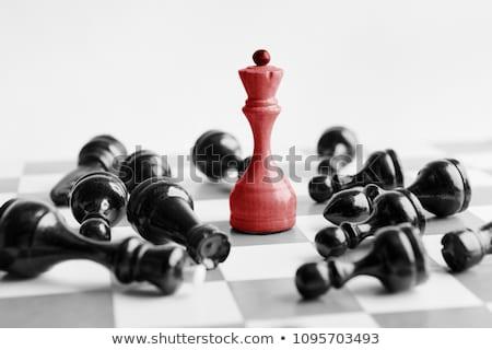 Slaan concurrentie industrie handdruk Rood dienst Stockfoto © kentoh