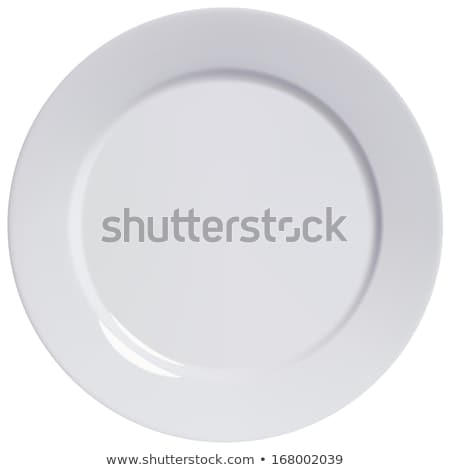 Flat white dinner plate Stock photo © Digifoodstock