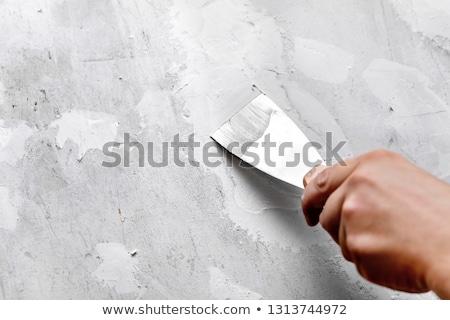 Spatel houten zes schone Stockfoto © Digifoodstock