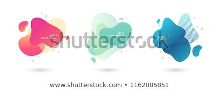 vektor · névjegy · absztrakt · hullámos · vonal · terv - stock fotó © fresh_5265954