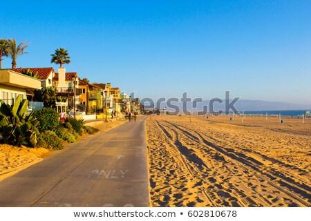Gyönyörű tengerpart híres móló délután Stock fotó © meinzahn