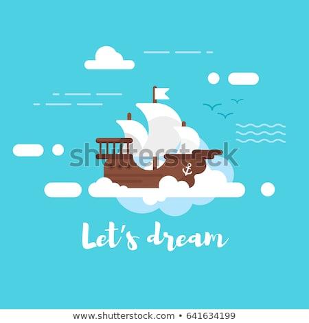 álom · kék · repülőtér · hajó · felhő · légy - stock fotó © curiosity