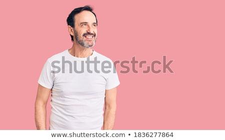 Widok z boku uśmiechnięty dojrzały mężczyzna biały drzewo Zdjęcia stock © wavebreak_media