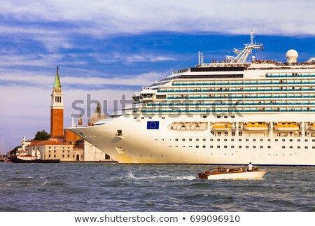 Huge cruise ship in the center of Venice, Grand canal. Italy stock photo © Freesurf