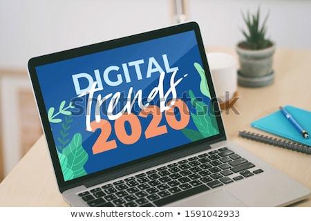 Laptop Screen with Market Monitoring Concept. Stock photo © tashatuvango
