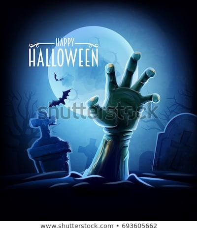 Zombie or Halloween Monster Cartoon Scene Stock photo © Krisdog