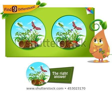 find 9 differences grasshopper stock photo © olena
