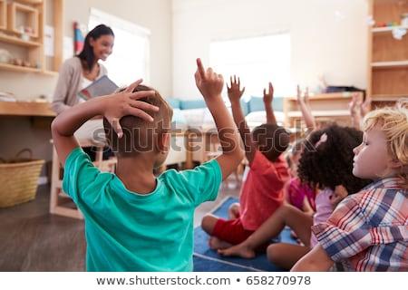 Négy diákok osztályterem iskola gyermek diák Stock fotó © IS2