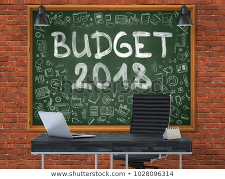 Budget Planning - Doodle Illustration on Red Chalkboard. Stock photo © tashatuvango