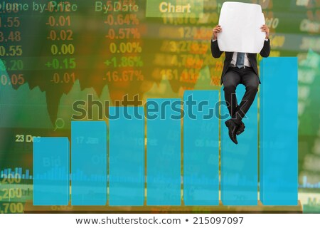 businessman at bar reading paper doubt stock photo © is2