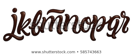 Letter O Chocolate font. sweetness alphabet. Liquid lettering. S Stock photo © MaryValery