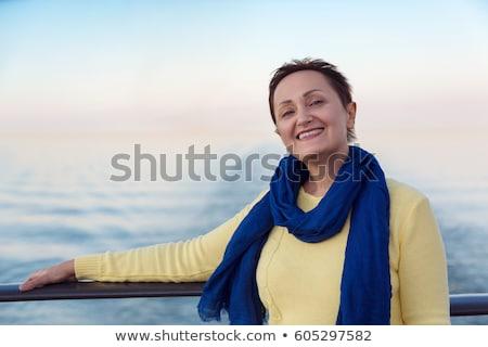 成熟した女性 セーリング 旅行 楽しい 自由 風 ストックフォト © IS2