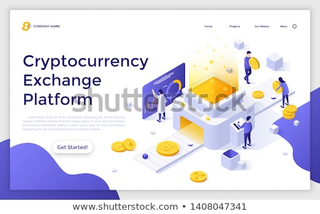 Woman with a cryto currency coin Litecoin Stock photo © lovleah
