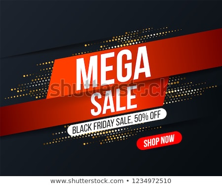 Mega sale poster vector illustration Stock photo © studioworkstock