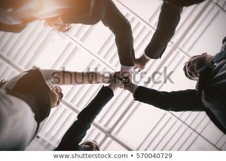 команда · high · five · другой · служба · бизнеса - Сток-фото © wavebreak_media
