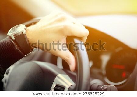 Férfi garázs luxus autók autó áll Stock fotó © IS2