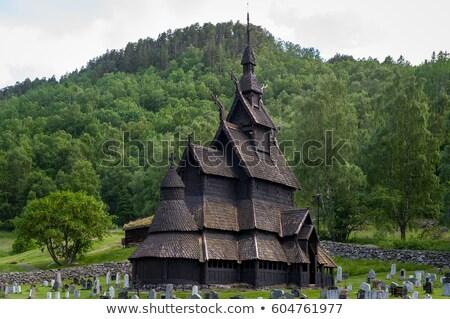 Норвегия · здании · путешествия · осень · архитектура · история - Сток-фото © phbcz