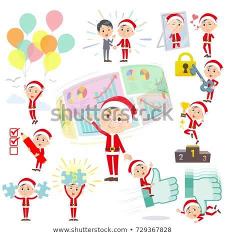 Дед Мороз костюм положительный набор различный мужчин Сток-фото © toyotoyo
