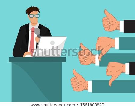 Veel handen show afkeer transparant business Stockfoto © romvo