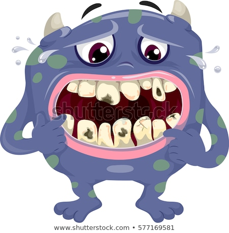 Monster illustratie Blauw gezondheid cartoon vuile Stockfoto © lenm