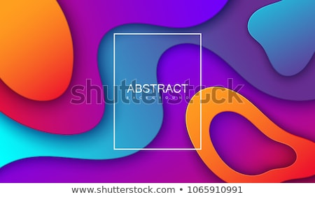 abstract bright color papercut background Stock photo © SArts