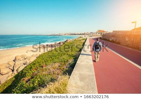 Atlantic City walkway by the ocean Stock photo © boggy