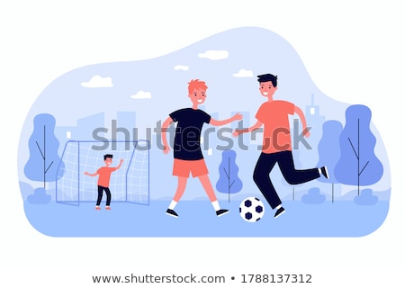 çocuklar · oynama · spor · grup - stok fotoğraf © pikepicture