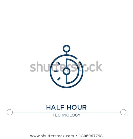 Isolato cronometro icona metà passato bianco Foto d'archivio © Imaagio