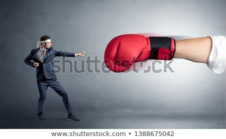 мало человека большой красный боксерская перчатка Сток-фото © ra2studio