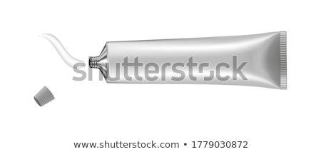 Cső kenőcs cseppek üveg üveg címke Stock fotó © robuart