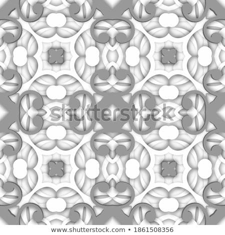 монохромный красивой декоративный мандала цветочный Сток-фото © lissantee