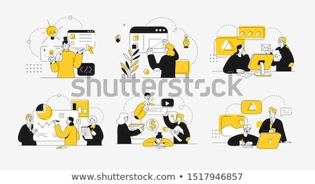 電子 · 文書 · 管理 · データ · デジタル · ファイル - ストックフォト © robuart