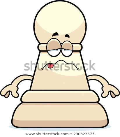 Ziek cartoon schaken pion illustratie schaakstuk Stockfoto © cthoman