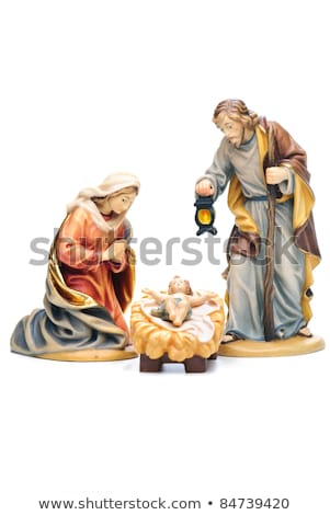 Christmas nativity scene; Jesus Christ, Mary and Josef Stock photo © manaemedia