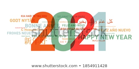 Happy new year translation from Russian text Stock photo © orensila