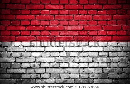 Indonesia flag painted on brickwall Stock photo © colematt