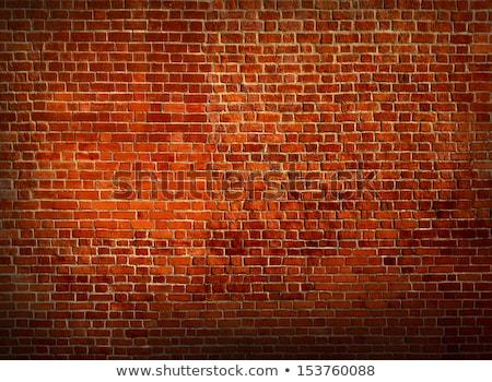 amarelo · vermelho · parede · de · tijolos · textura · casa · edifício - foto stock © kayros