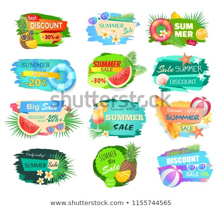 Best Offer Summer Proposition Vector Illustration Stock photo © robuart