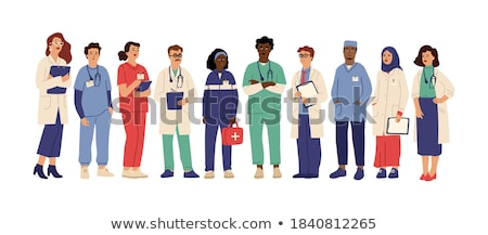 Medical Workers People Set Vector Illustration Stock photo © robuart