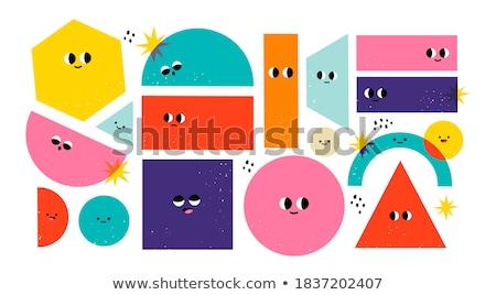 Básico cores conjunto crianças desenho animado Foto stock © izakowski