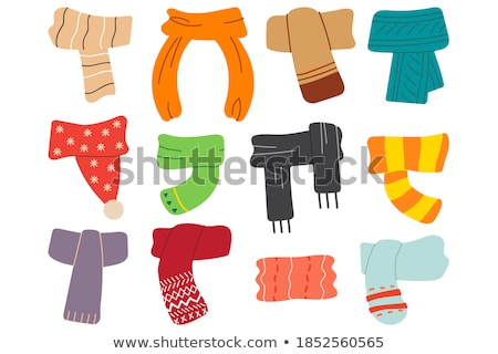 Winter or autumn headwear collection pattern Stock photo © netkov1