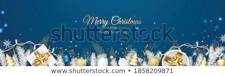 neşeli · Noel · happy · new · year · kar - stok fotoğraf © robuart
