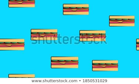 Et renk izometrik model eps Stok fotoğraf © netkov1