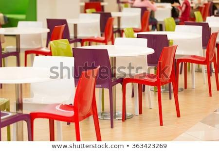 Stockfoto: Restaurant · ontwerp · outdoor · dining · business · achtergrond