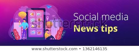 Medios de comunicación social noticias consejos banner hombres Foto stock © RAStudio