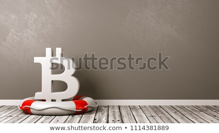 Bitcoin assinar quarto branco símbolo forma Foto stock © make