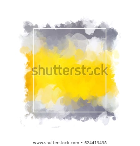 Pattern in the form of a square of painted yellow and white eggs on a green background with copy spa Stock photo © artjazz