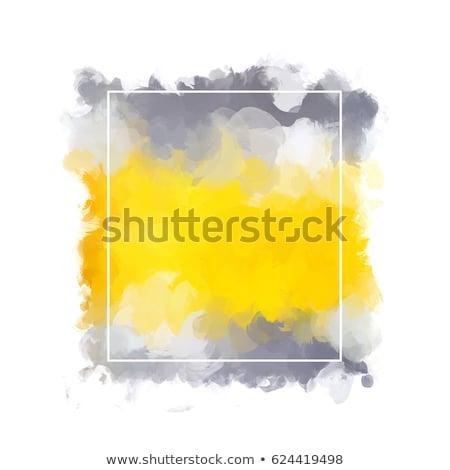 Minta űrlap tér festett citromsárga fehér Stock fotó © artjazz